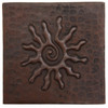 Infinity sun copper tile