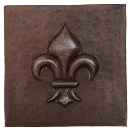 Copper Tile Fleur De Lis Design Copper Sinks Direct