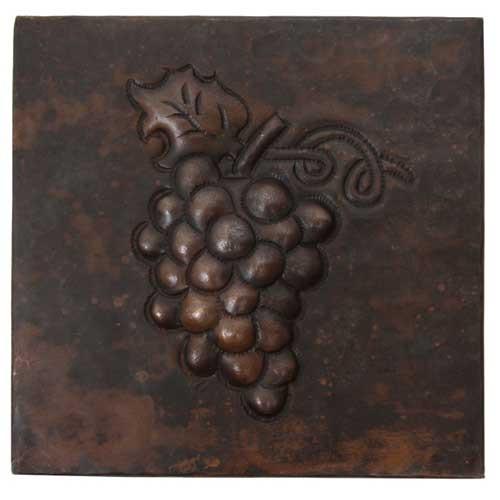 grape cluster design copper tile