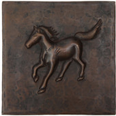 Running Colt design copper tile