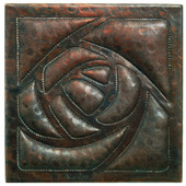 Arts and Crafts design copper tile