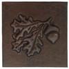 Acorn with leaves copper tile design