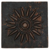 Sun Burst design copper tile