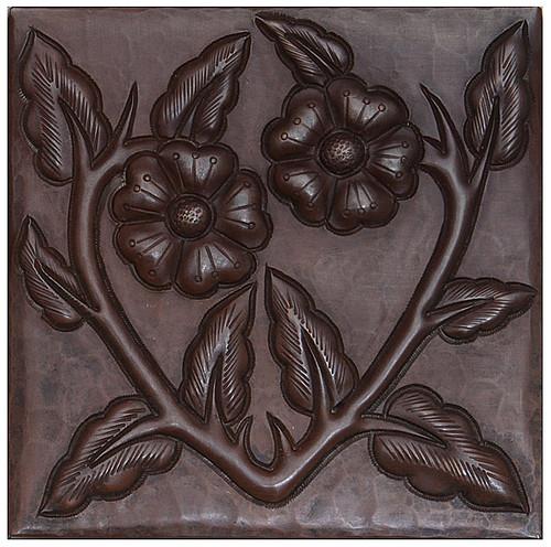 Floral Vine design copper tile