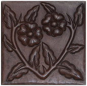 Floral Vine design copper tile