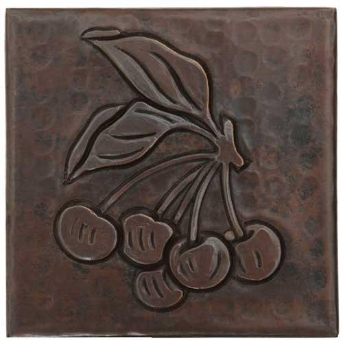 Cherry design copper tile