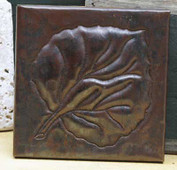 Large leaf design copper tile