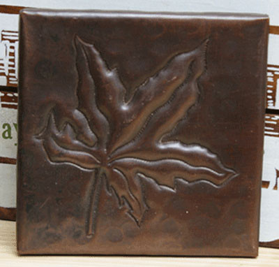 Chinese Maple design copper tile