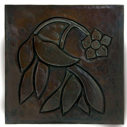 Dogwood Flower design copper tile