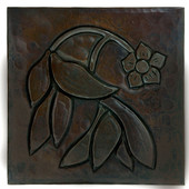 Dogwood Flower design copper tile