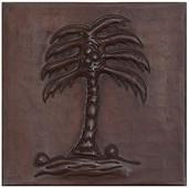 Coconut Tree design copper tile