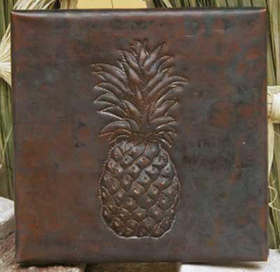 Pineapple design copper tile