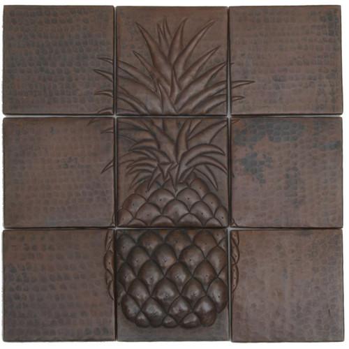 Pineapple Mosaic design copper tile