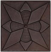 Diamond Floral design copper tile