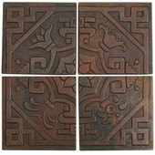 Medallion mosaic design copper tile