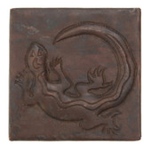 Gecko design copper tile