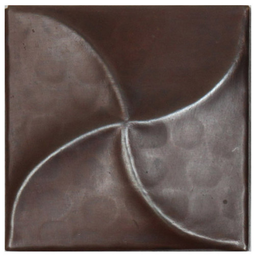 Swirl design copper tile