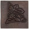 Triangle of grapes design copper tile