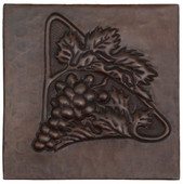 Triangle of grapes design copper tile