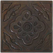 Floral Mosaic design copper tile