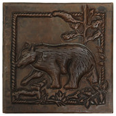 Bear Scene design copper tile