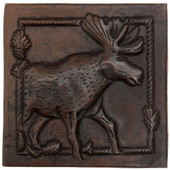 Moose Scene design copper tile