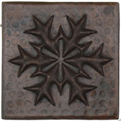 Snowflake Medallion design copper tile