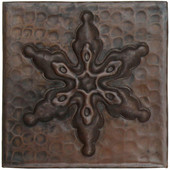 Ornamental snowflake design copper tile