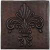 TL993-4x4 Hammered Copper Tile