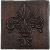 TL993-4x4 Hammered Copper Tile