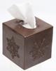Snowflake design copper tissue box