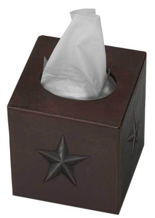Star design copper tissue box