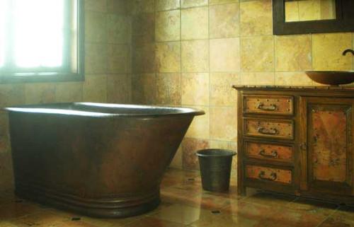 hammered copper slipper tub