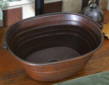 Hammered Copper Oval Bucket Sink-BKO16