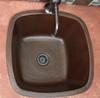 Copper Sinks Direct-SBV15-Square copper bar sink installed