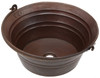 BKT17-Hammered Round Copper Bucket Sink