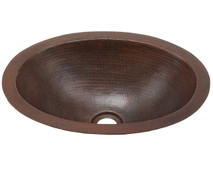 BO15-Oval Bath Copper Sink
