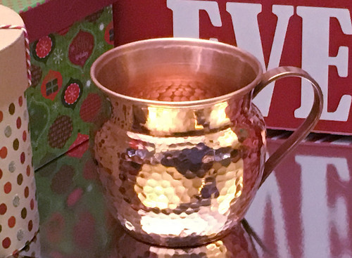 16-RH-CARA  Copper Barrel mug with Flared Top