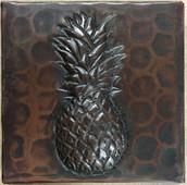 """TL502PAP-2""""x 2"""" Pineapple Design Accent Copper Tile"""