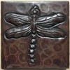 TL502DFY-Dragonfly hand hammered copper with dragonfly design.