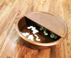 PED20+FR-Spa Foot Soak Hammered Copper Pedicure Bowl with Removable Foot Rest