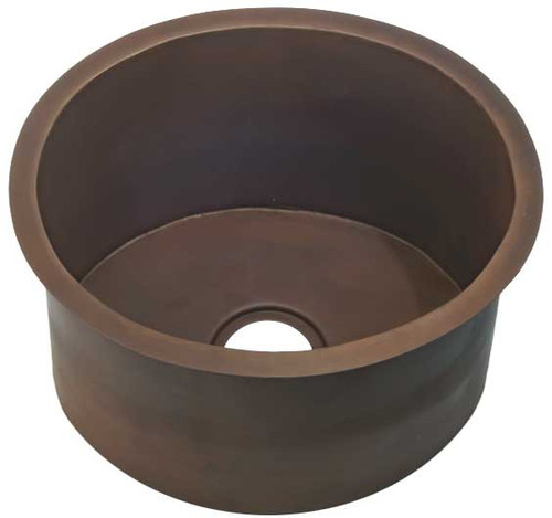 Drum style copper sink in smooth finish
