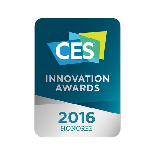 2016 CONSUMER ELECTRONICS SHOW INNOVATION AWARD!