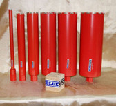 "BLUEROCK 1"" - 6"" Diamond WET Coring Bit Set For Concrete Core Drill"