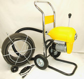 "BLUEROCK SDS200B 2"" - 8"" Sectional Pipe Drain Cleaning Machine 60' Snake Cleaner"