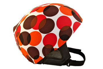 Red / Orange Dots Helmet Cover