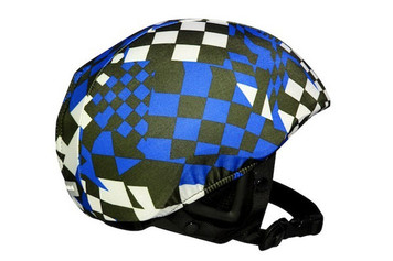 Blue Race Flags Helmet Cover
