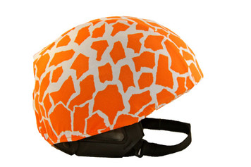Orange Leopard Helmet Cover