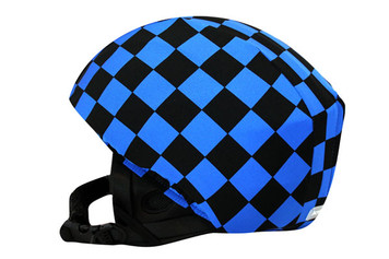 Royal Blue & Black Check Helmet Cover