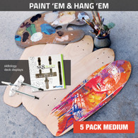 Paint 'em and Hang 'em - 5 Pack Medium
